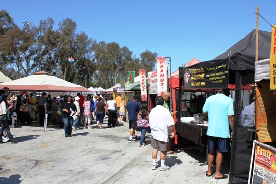 The Food Court at the East End of the Torrance Farmers Market.