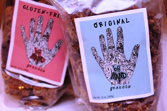 By Hand Granola comes in two varities: original and gluten free.