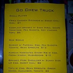 go chew menu