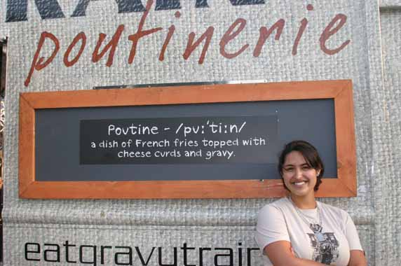 Liana with the Gravy Train Poutinerie Truck