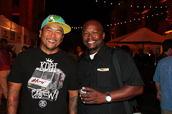 At THE TASTE 2011, chatting with the godfather of gourmet food trucks, Roy Choi.