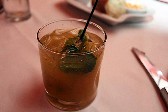 The Whiskey Rebellion, one of the Retro Chic cocktails from the bar menu at Flemings.