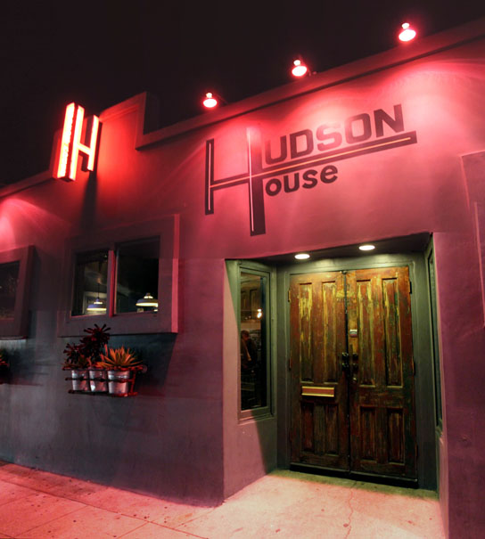 The bright and refined entrance to Hudson House, home of Redondo Beach's own Top Chef, Brook Williamson