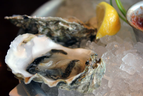 Oysters and Champagne at Bluewater Grill, Redondo Beach