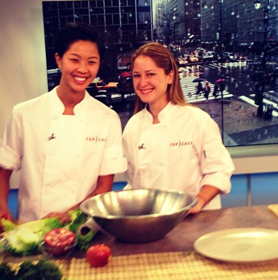 Chefs Kristen Kish (left) and Brooke Williamson (right) will compete for the title of Top Chef in tonight's Season Finale on Bravo TV.