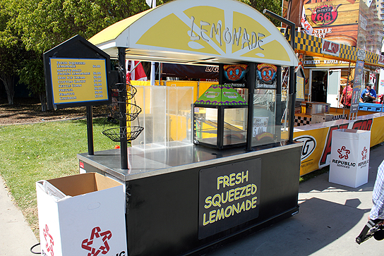Lemonade is a family friendly option for cooling off under the hot Southern California sun during the race.
