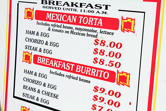 If you get to the races early (The track opens at 7 AM) consider a breakfast burrito to get your motor running.