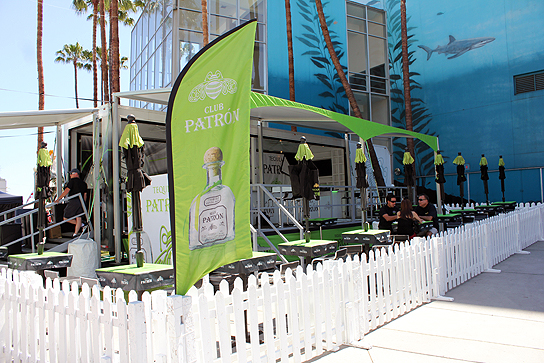 Adults can reflect on the races in Patron's Tequila Club.
