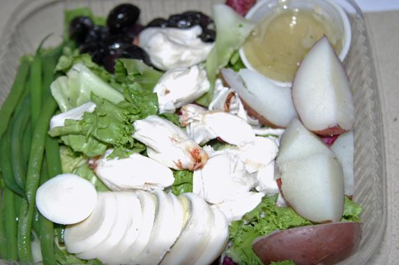 Crab Nicoise salad with Meyer lemon dressing