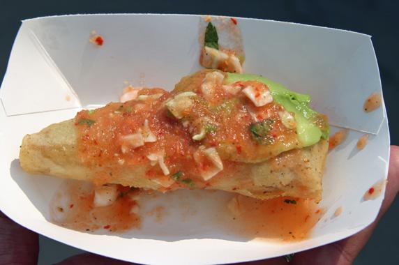 Shrimp taco dorado
