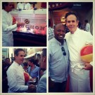 Thomas Keller from Bouchon and the French Laundry was getting up close and personal with guests...by throwing the occasional beach ball.