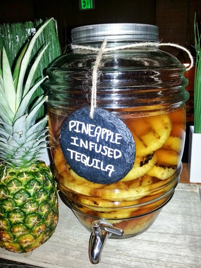 The tequila for the Makaha Maggie is made with pineapples that have been grilled and then steeped in the liquor for three days.