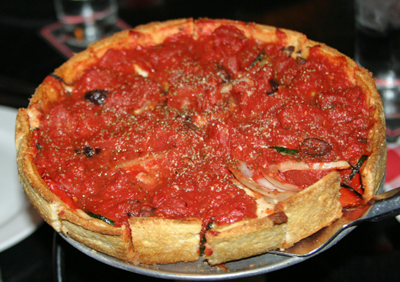 The 'Berkeley' deep dish pizza by Pi Pizzeria