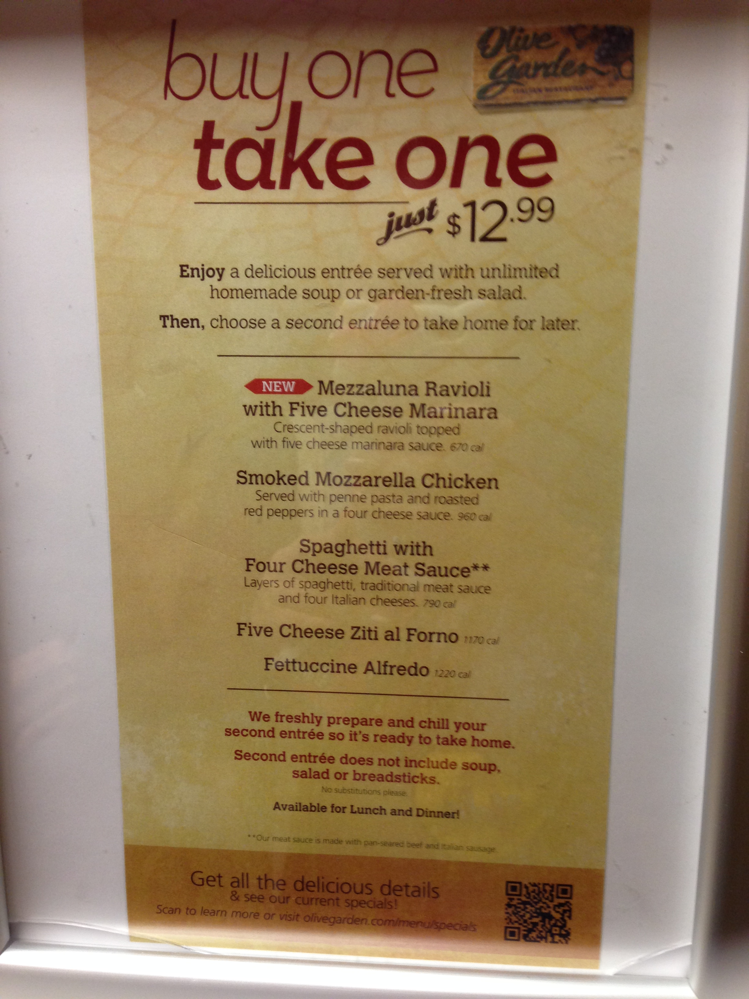 Buy One Take One Is Back At Olive Garden South Bay Foodies