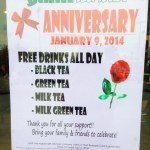 Yami Teahouse Anniversary on January 9