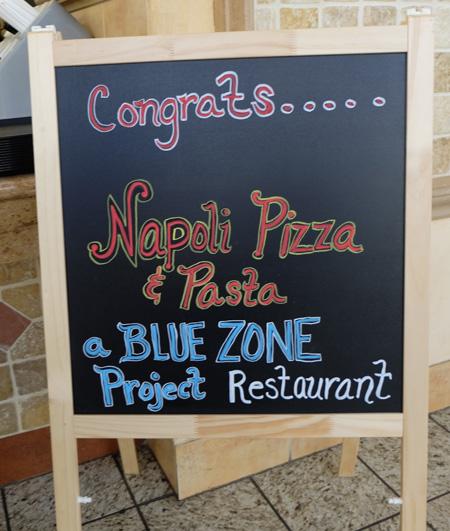 Napoli Pizza becomes designated Blue Zones restaurant