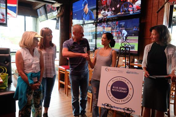 Redondo Beach City Councilman congratulates Assistant Manager, Vanessa Swartz