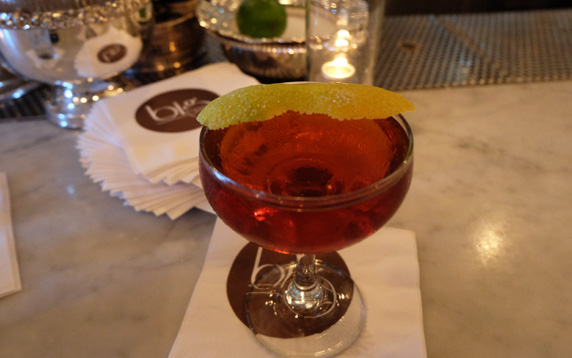 St. Anne's Helper - Eagle Rare 10 yr bourbon, carpano antica, meletti, forbidden bitters