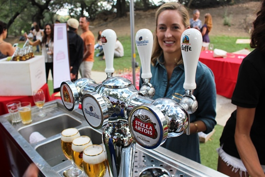 Beer and smiles on tap at Stella Artois.