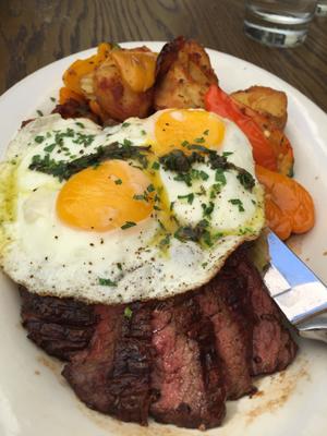 Hangar Steak with Roasted Potatoes