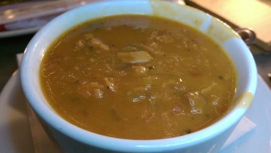Manhattan clam chowder.