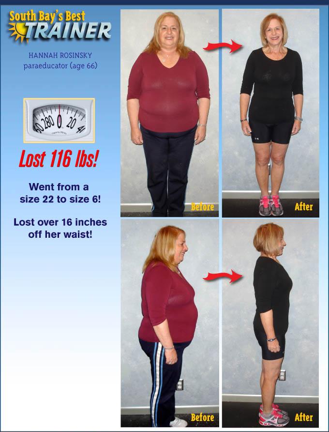 weight loss testimonial personal trainer fat loss program - Hannah Rosisnsky