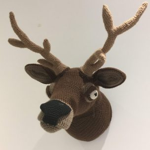 Crochet Wall Trophy of a Stag