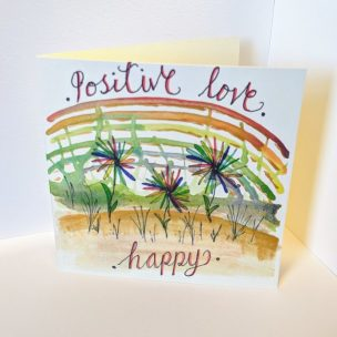 Positive Love Rainbow card