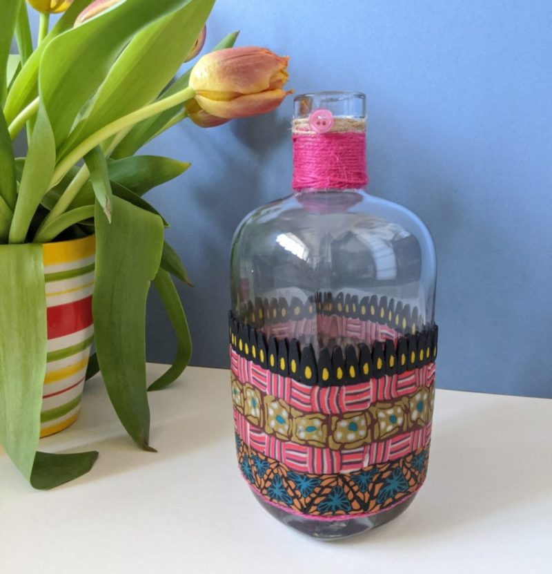Bohemian Decorated Bottle