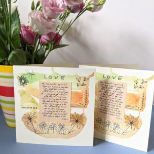 Keats love poem card
