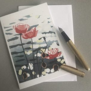 Scale Image - Poppies Card