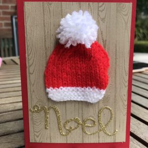 knitted Christmas card