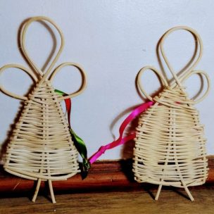 mini angels made from cane