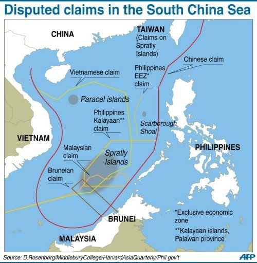 Image result for territorial claims south China Sea