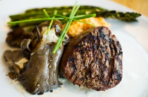 Aged grilled beef tenderloin