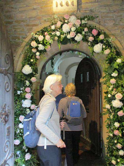 It is beautifully decorated with roses, maybe a wedding at the weekend