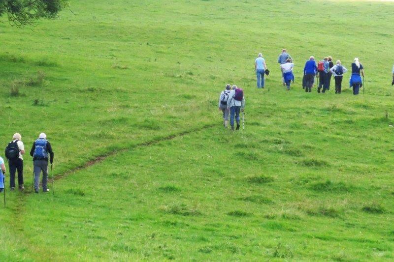 As we start a long climb