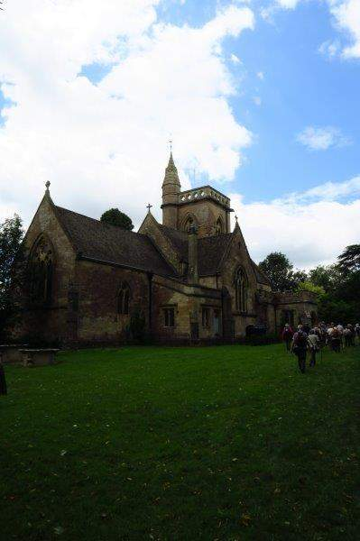 Shipton Moyne church and back into the village