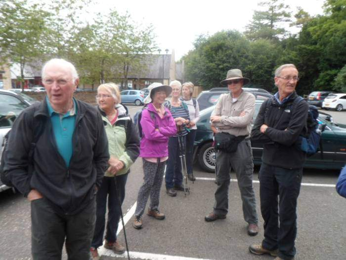 We're joined by Ramblers from Stratford, the North Cotswolds and California - Bob and Myjin on holiday in the UK for 10 weeks, who came into Stow to look round the town, saw us in the car park and asked if they could join us!