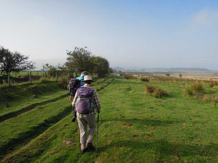 Heather sets off leading our walk