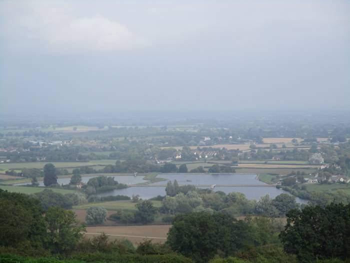 Looking over Witcombe Reservoir