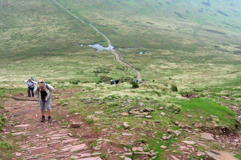 Now climbing Pen y Fan