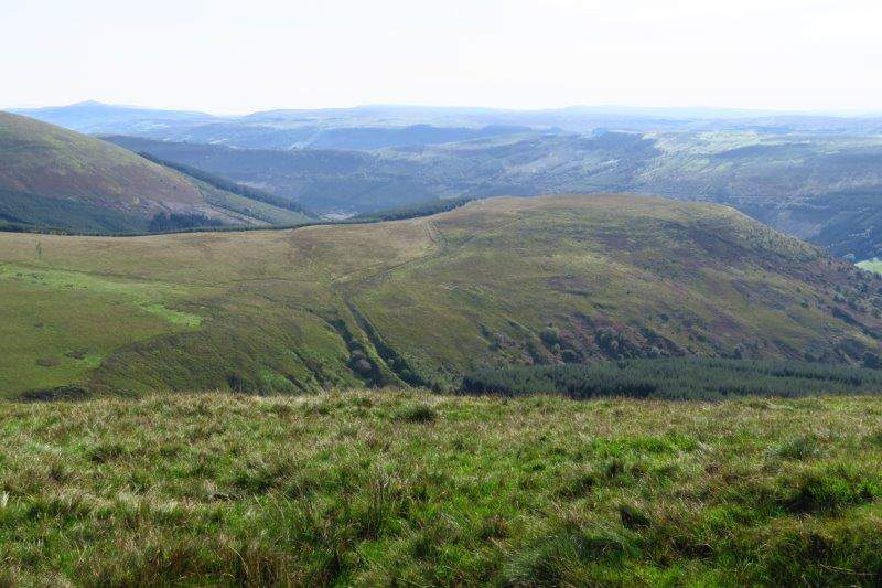 And now have views down into the valley