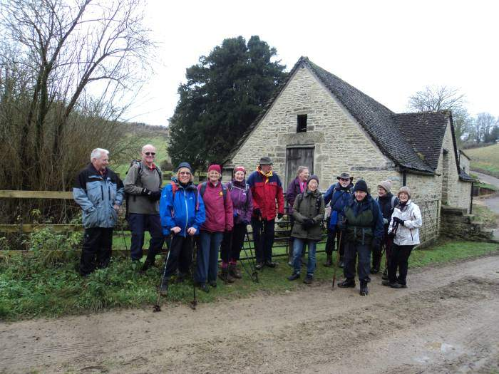 Most of the group - at Honeycombe Farm