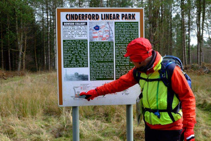 Arriving back at Cinderford Linear Park, Andrew points out where we are