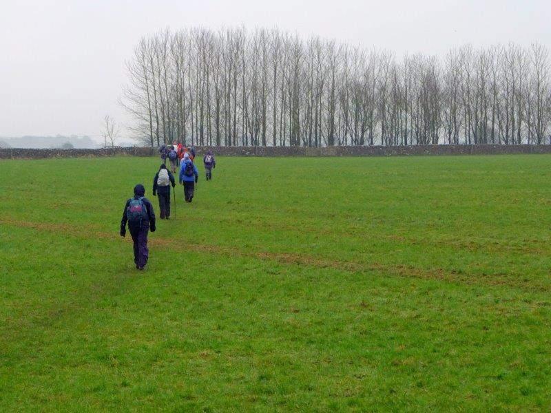Leaving Minchinhampton we head acrss the fields
