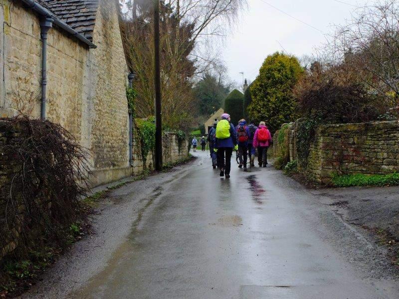 On through the village