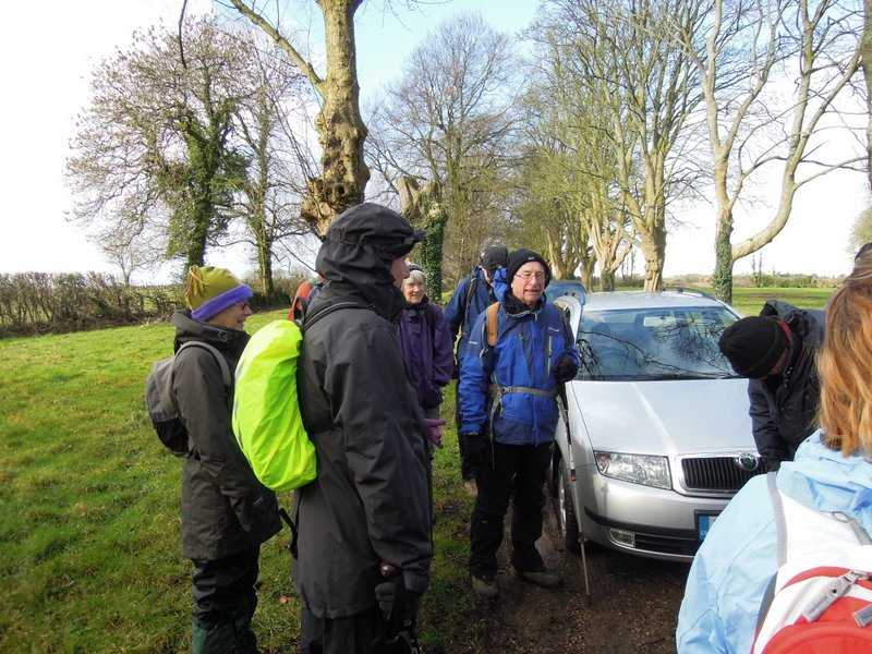 Richard tells us of the walk to come - and of course the mud