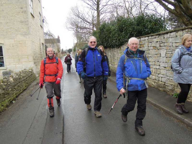 Richard leads us off through Painswick on his 10 mile walk