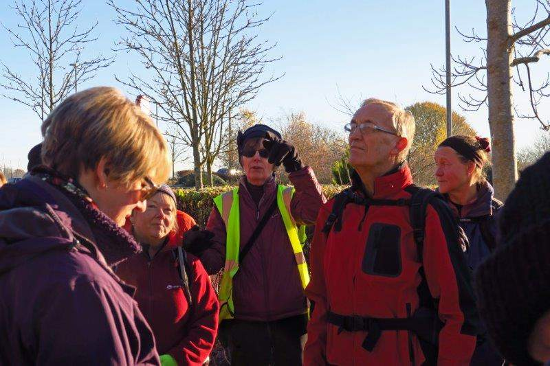 Ros lays down the law as she gets our walk underway
